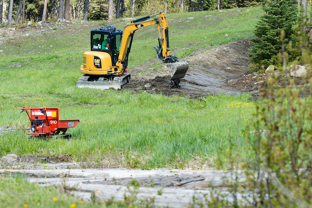 Building new trails at Sun Peaks Resort
