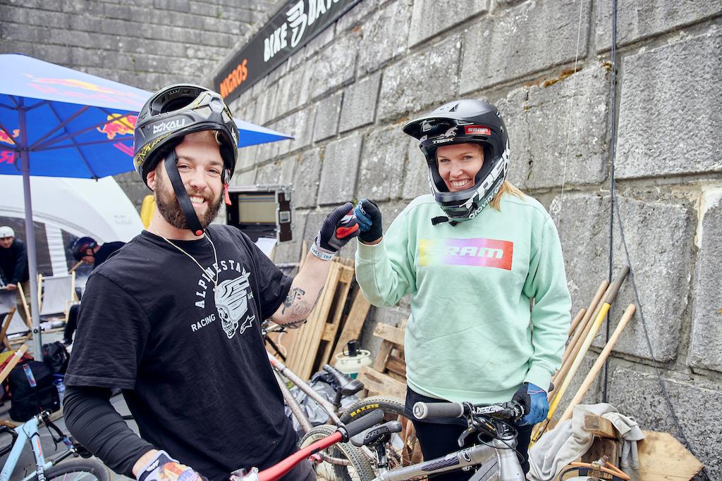 Die Dirtjumperin Kathi Kuypers ist an den Bike Days dem Velofestival in Solothurn Schweiz vom 10. bis 12.Mai 2019 Foto www.andremaurer.ch