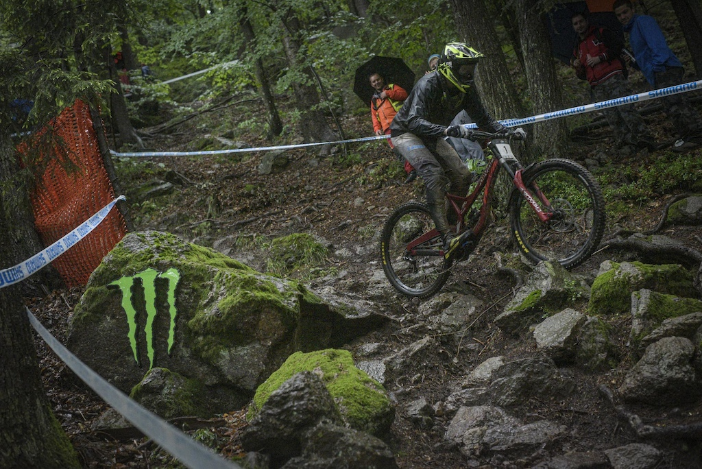 Jure abjek of Unior Devinci Factory Racing winner of 2019 Downhill Javor. Photo by Urban Cerjak Monster Energy
