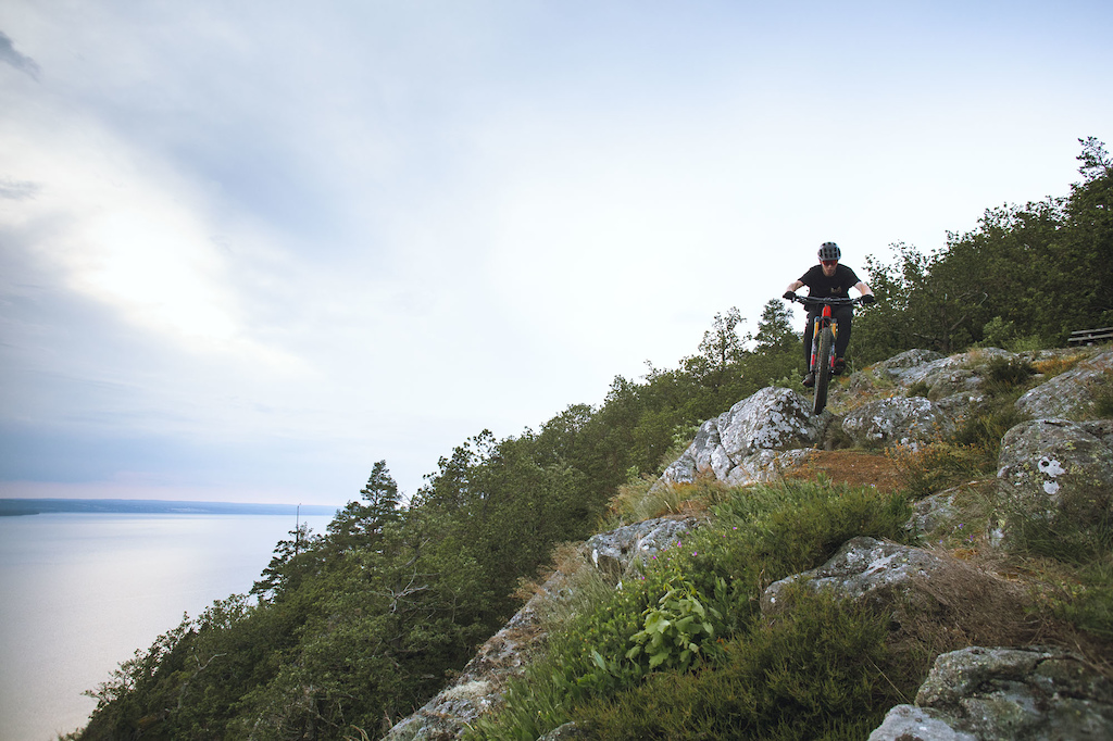 Post ride on the trails around Husqvarna