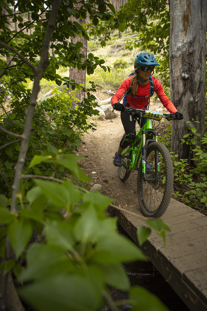 Lower Ash Canyon trail was the final descent for riders in the Capital 15 Fun Ride.