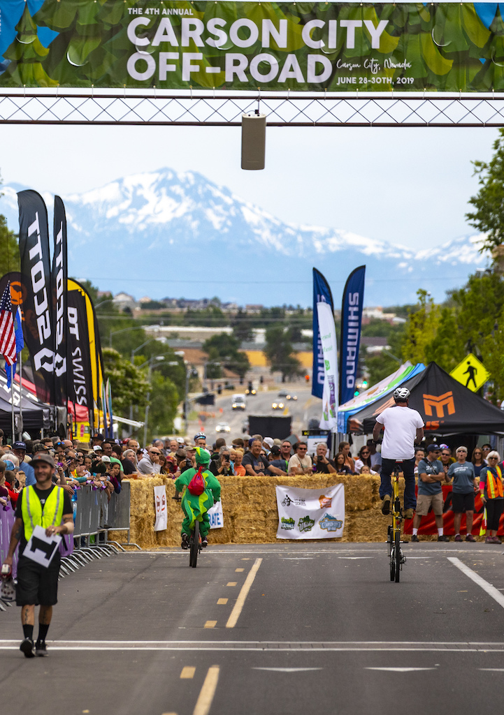 The Klunker Crit drew costumes smiles and highboys while the snowcapped eastern slope of the Sierra Nevada lived up to its namesake.