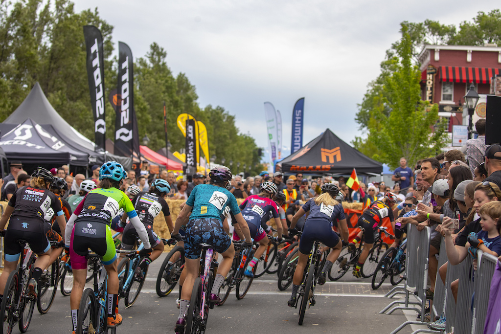 West Carson Street in downtown Carson City was lined with spectators to watch the Pro Women in the El Yucateco Fat Tire Crit.