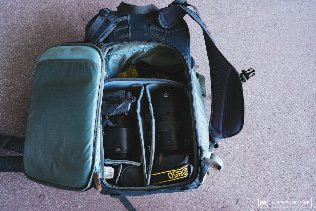 How Dave's gear fits in his Shimoda Shimoda Exlpore 30 (30 litre).