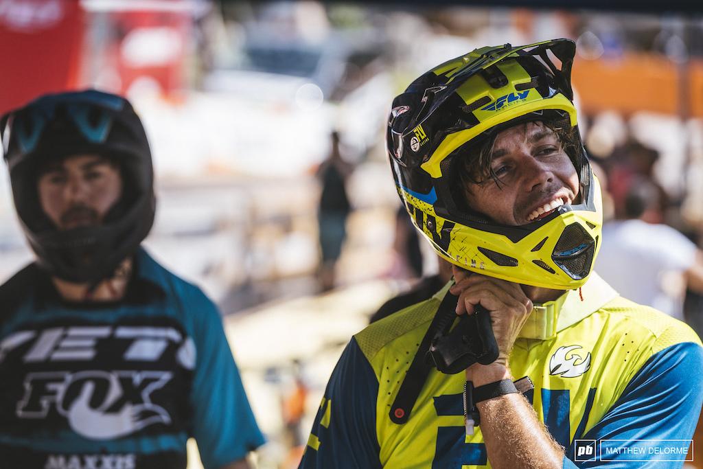 Matt Walker checks in after stage three.