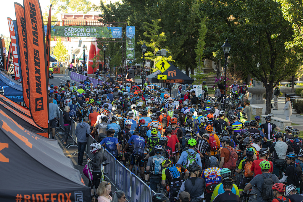 The start of the amateur Capital 35 and Capital 50 backcountry events on Saturday filled all of West Carson Street in the heart of downtown Carson City.