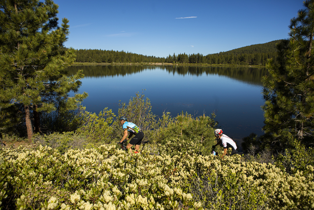 Between Lake Tahoe Marlette Lake and Spooner Lake pictured here there was no shortage of beauty along the Capital 35 and Capital 50 courses.