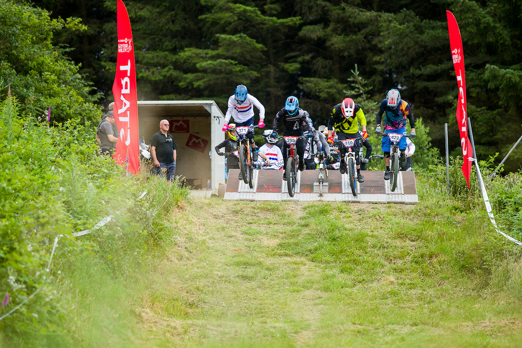during round 4 of The 2019 Schwalbe British 4X Series at Afan Forrest Wales United Kingdom on June 30 2019. Photo Charles A Robertson