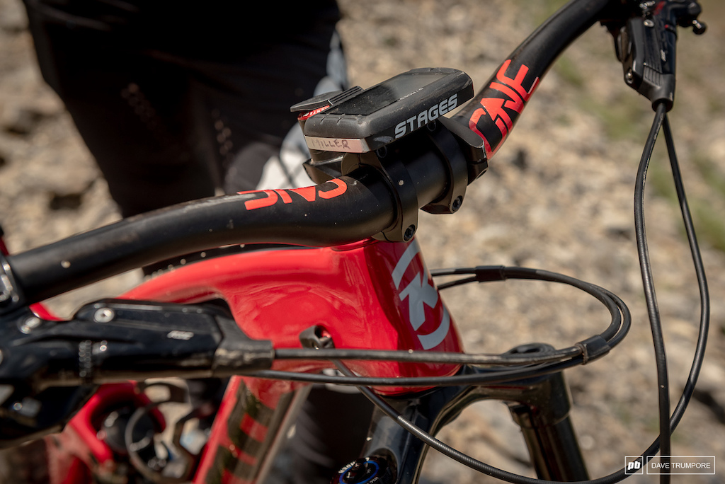 Miranda Miller s Kona Process CR- One Up Bars and Stages power meter