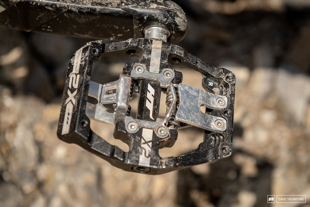 Keegan Wright s Devinci Spartan - HT pedals with custom alloy ramps