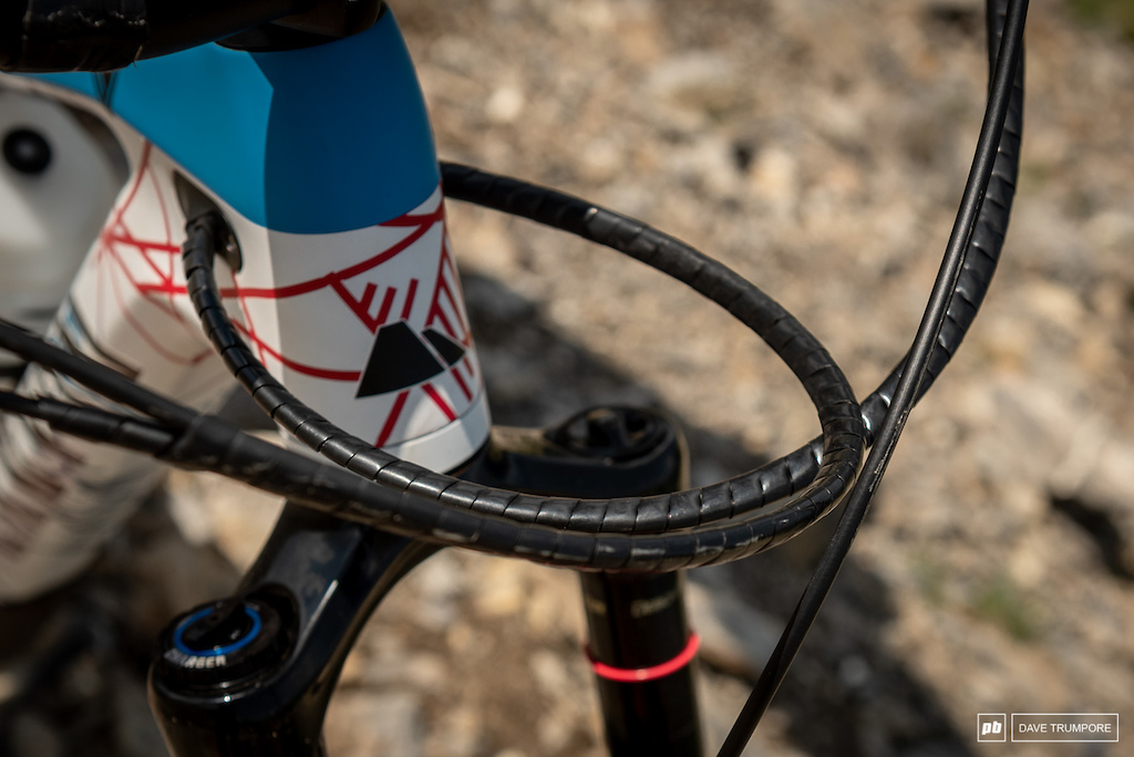 Florian Nicolai s Canyon Strive - Little details to keep the cables quiet