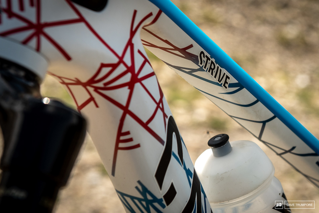 Florian Nicolai s Canyon Strive - Red white and blue for France