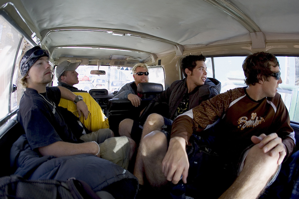 Robbie Bourdon Gary Alistair Carlin Dunne and Dave Watson. Somewhere in Bolivia Photo by Lucas Kane