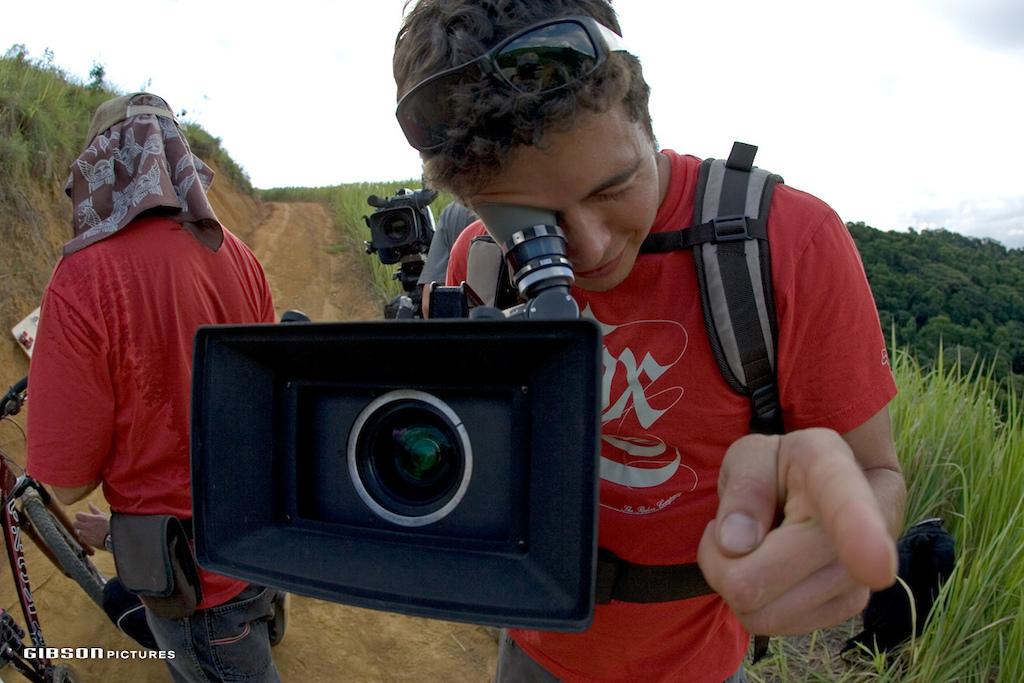 Shooting for New World Disorder 7 in Ilhabela Brazil 2006 John Gibson photo.