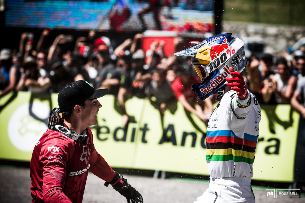 He may have displaced him from the hot seat and denied him the win, but Loris Vergier was the first to congratulate his old team mate and life long friend.