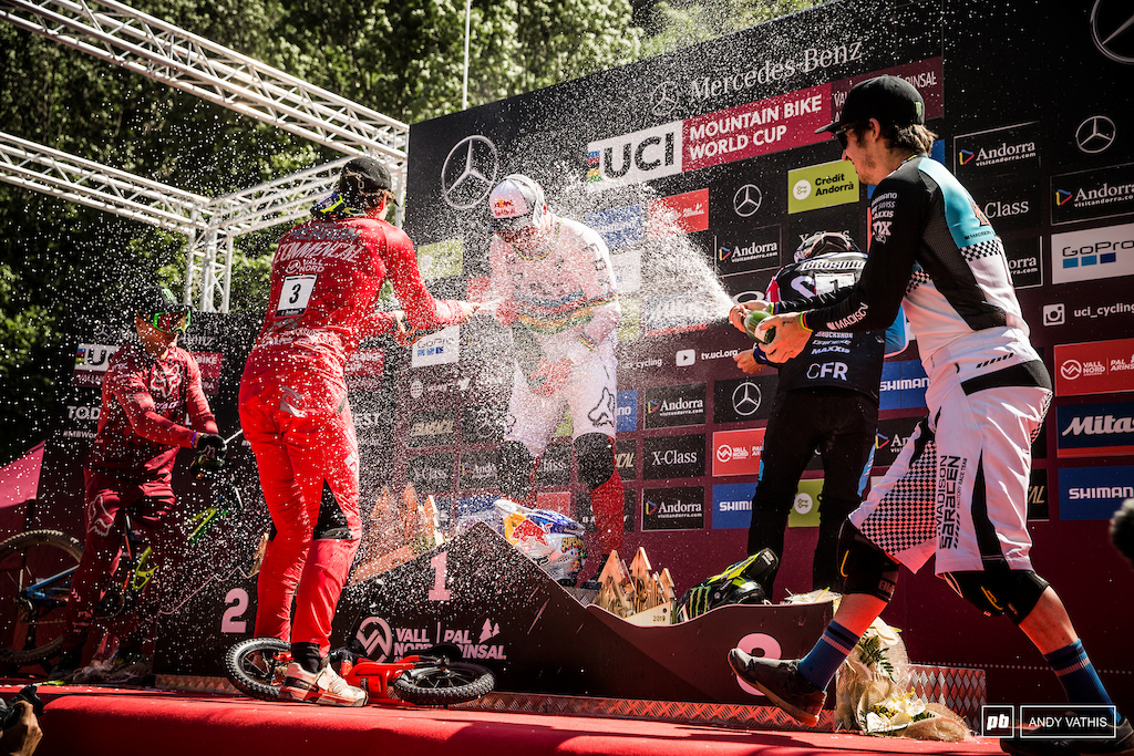 The only precipitation this weekend was the champagne.