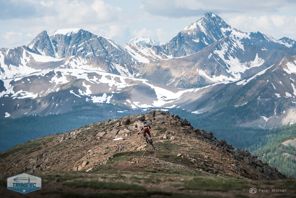 Dropping into the first of many many descents with killer views... I suppose they call it Panorama for a reason.