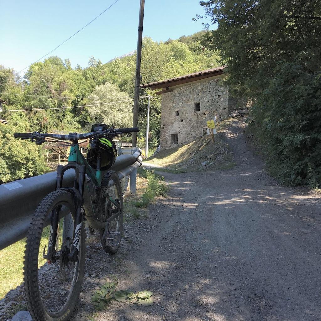 Bottom of the Pila Aosta freeride - Rientro