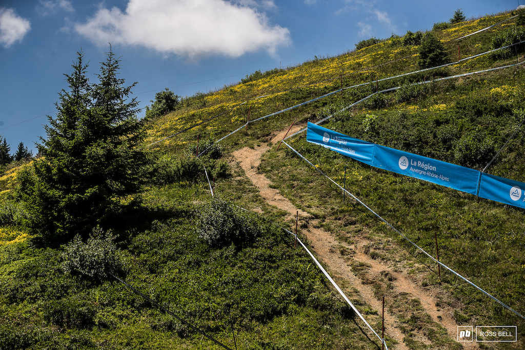 Most of the track remains the same from Crankworx, but there's plenty of different taping to keep things fresh.