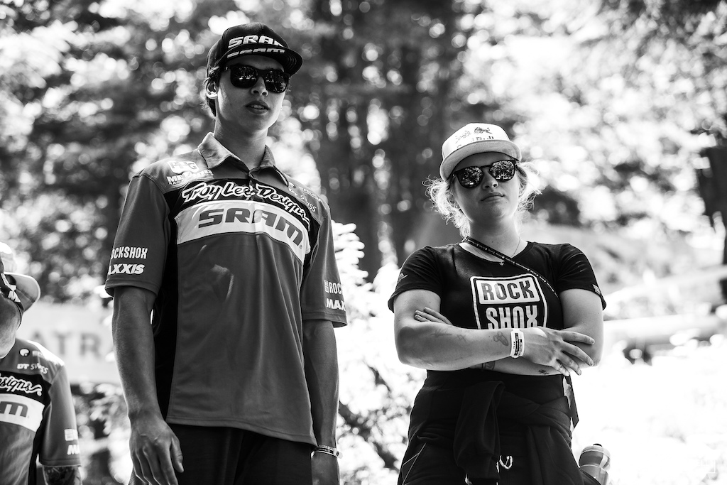 SRAM team mates Vali Holl and Lucas Cruz will be hoping for a repeat of last weekend.