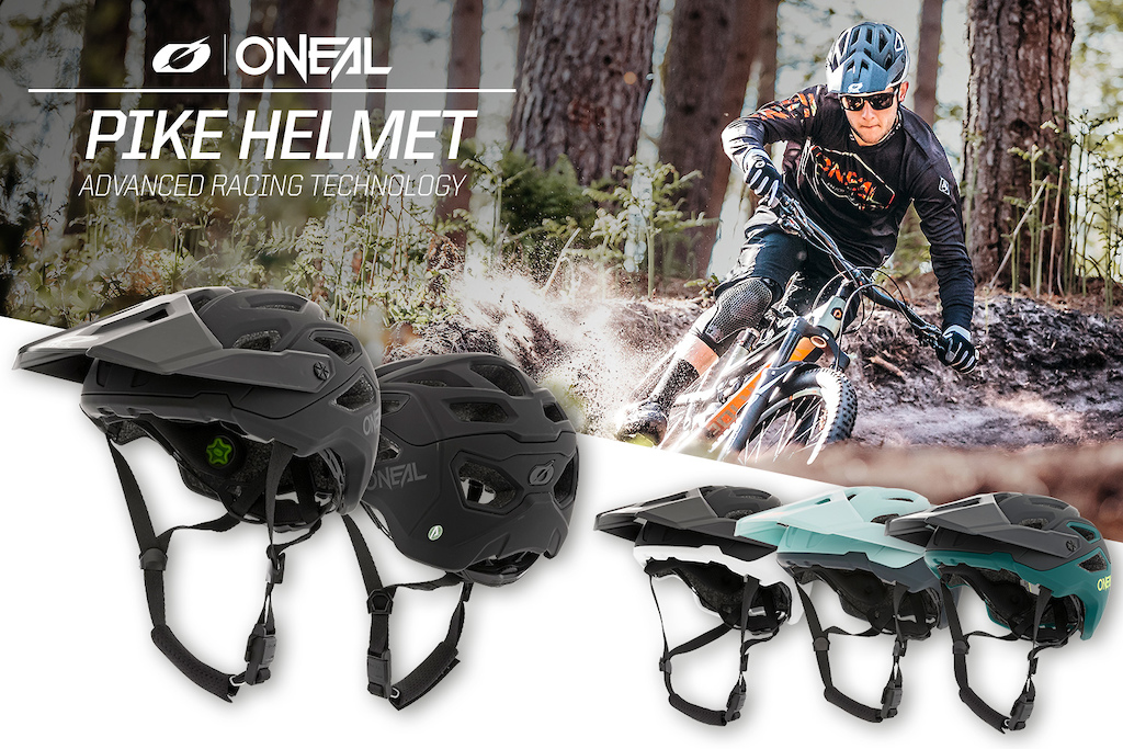 The all-new Pike Helmet from O'Neal. 2 years in development. The result? For the price, possibly the best looking, safest and best fitting open-face MTB helmet on the market.