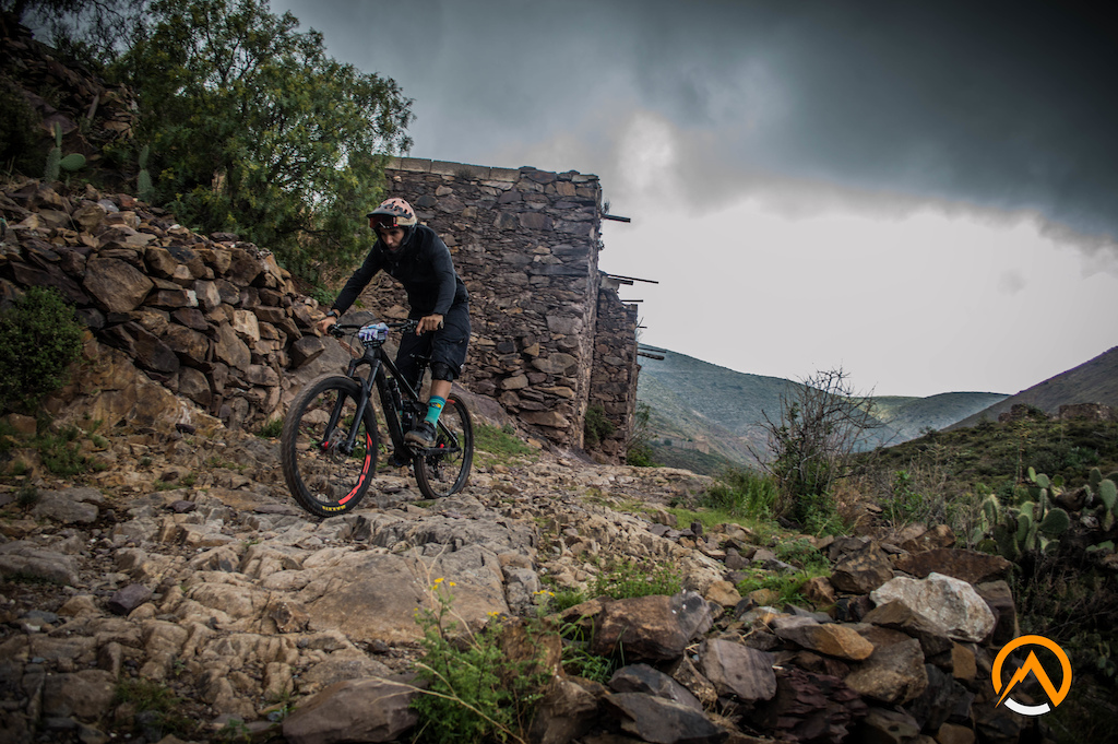 Blazing down through the 3rd stage of the Northern Enduro Series at Real de Catorce in Mexico