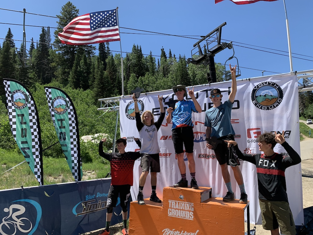 The top 5 in the Advanced Boys 14-18 class 1st Place Simon Donnaway 2nd place Jeremy Lomenick 3rd place Drake Knotts 4th place River Martucci 5th place Preston Johnson