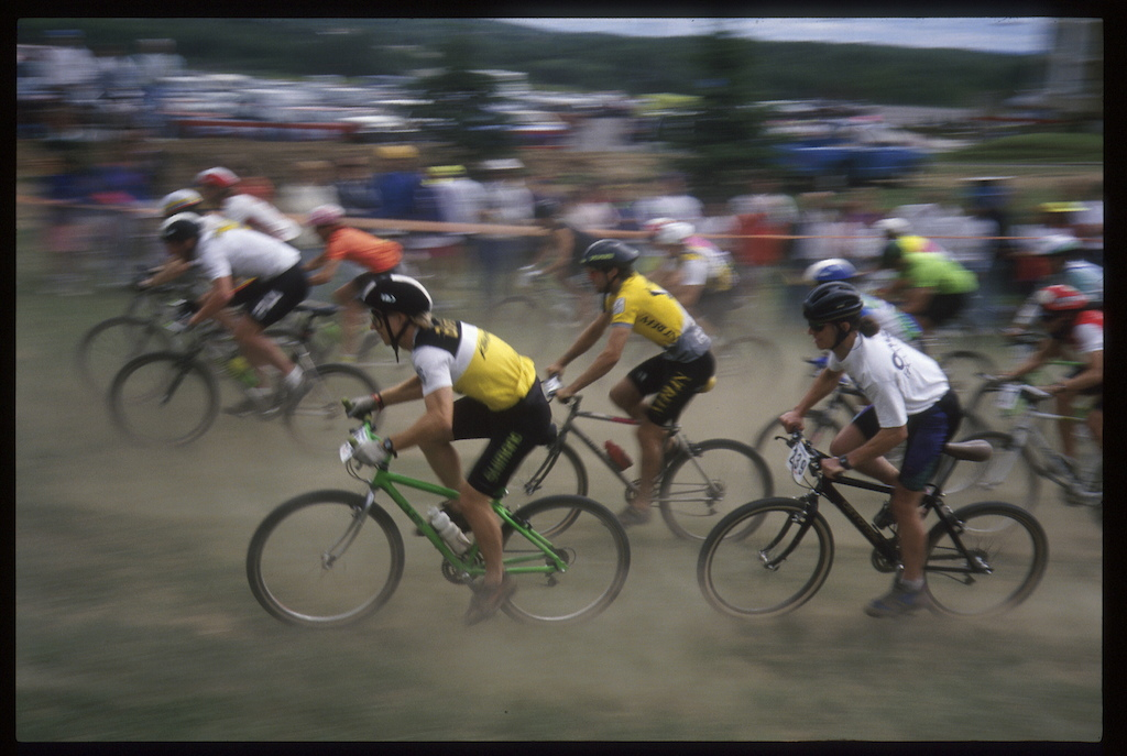 First UCI event at Mont-Sainte-Anne 1991