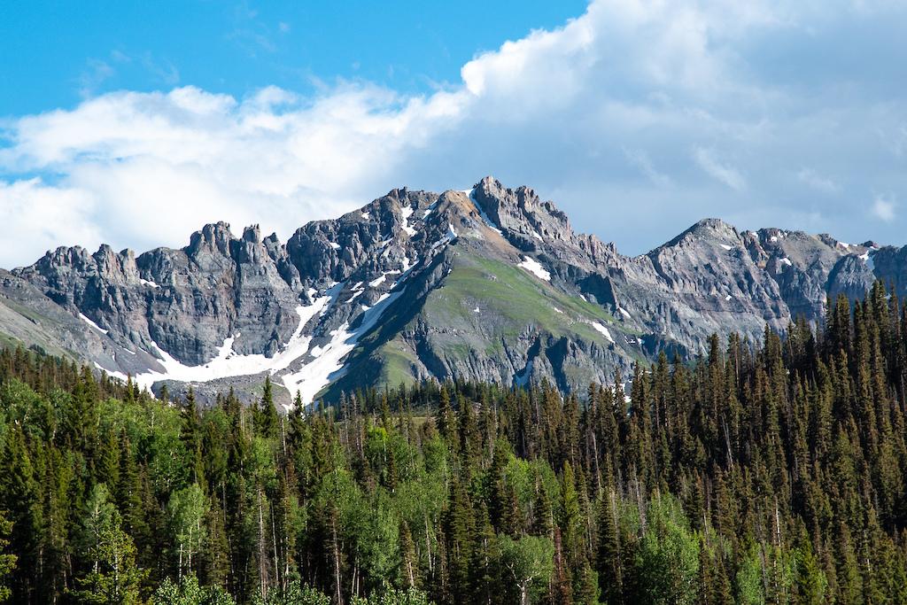 Beautiful peaks in every direction in Telluride.