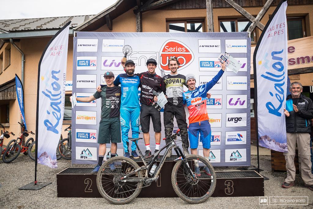 The Elite Men podium