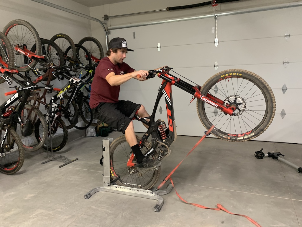Tyler McCaul uses the Balance Trainer to dial in fast twitch muscles.