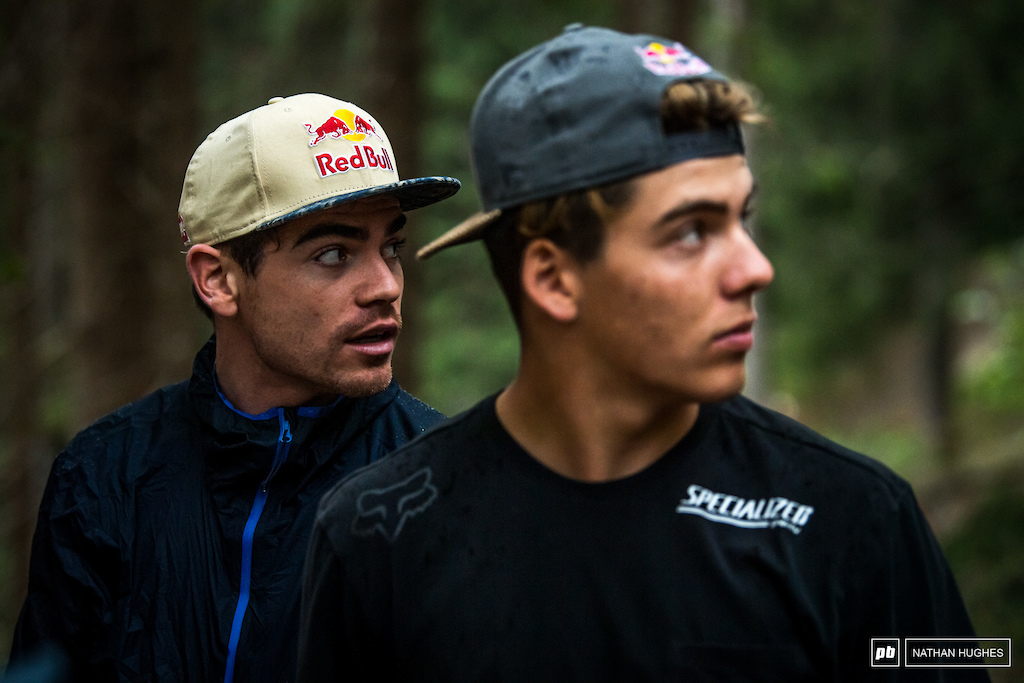 Loic and Fin took one of the slowest walks ever up on the Black Snake course today; there's simply so much to take in.