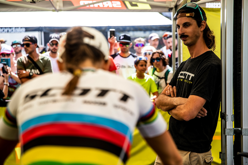During the 2019 UCI MTB World Cup, La Massana Andorra.