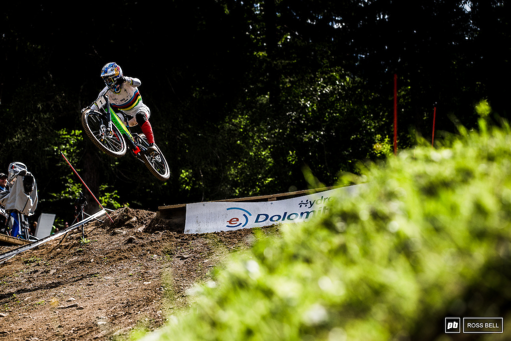 Loic Bruni launches out the woods and into the hot seat, only kicked of the top spot by Greenland.