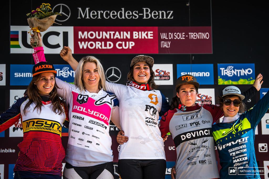 Fastest women in the west... Cabirou, Hannah, Ballanche, Widmann and Siegenthaler.