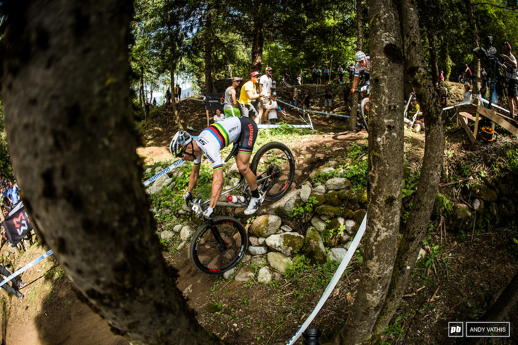 Nino Schurter stayed with the pack and even tried an attack at the very end. He just didn't have the legs to bag it up.