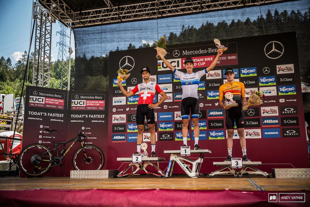 Vlad Dascalu, Filipo Colombo, and Jofre Cullell Estape close out the U23 Men's podium.