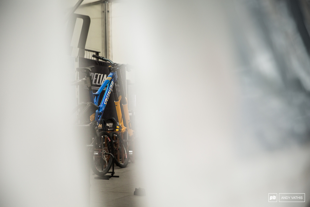 Loic s bike is feeling blue with all this rainfall.