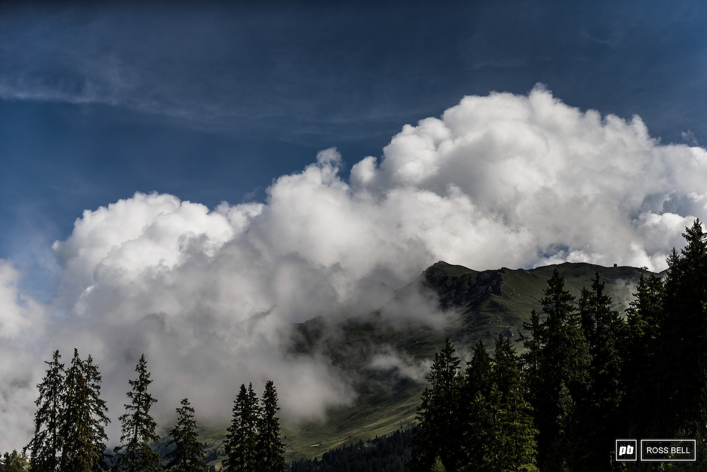 Lenzerheide was shrouded in cloud this morning but it burned off quickly once the sun flooded into the valley.