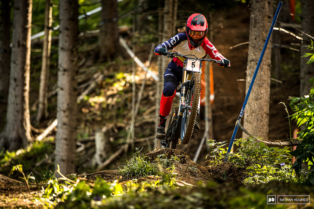Vero Widmann looks good for a top result this weekend; 4th place today, but times are admittedly tight.