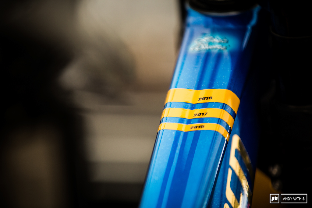 Loic Bruni would love to add another yellow band to his top tube.