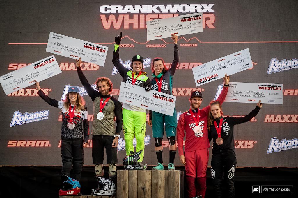 Garbanzo Downhill Podium