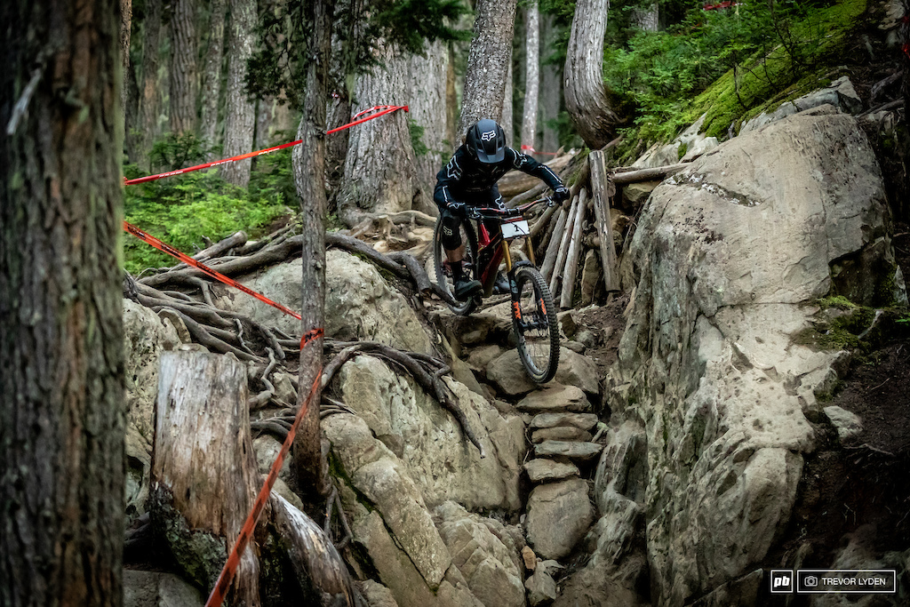 Local legened Chris Kovarik knows this trail well, and just missed the podium by one spot.