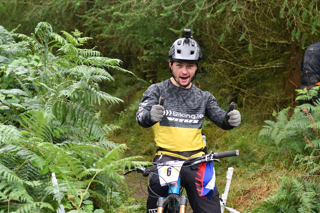 A usual top10 Garreth Davis from Biking.ie team happier than ever