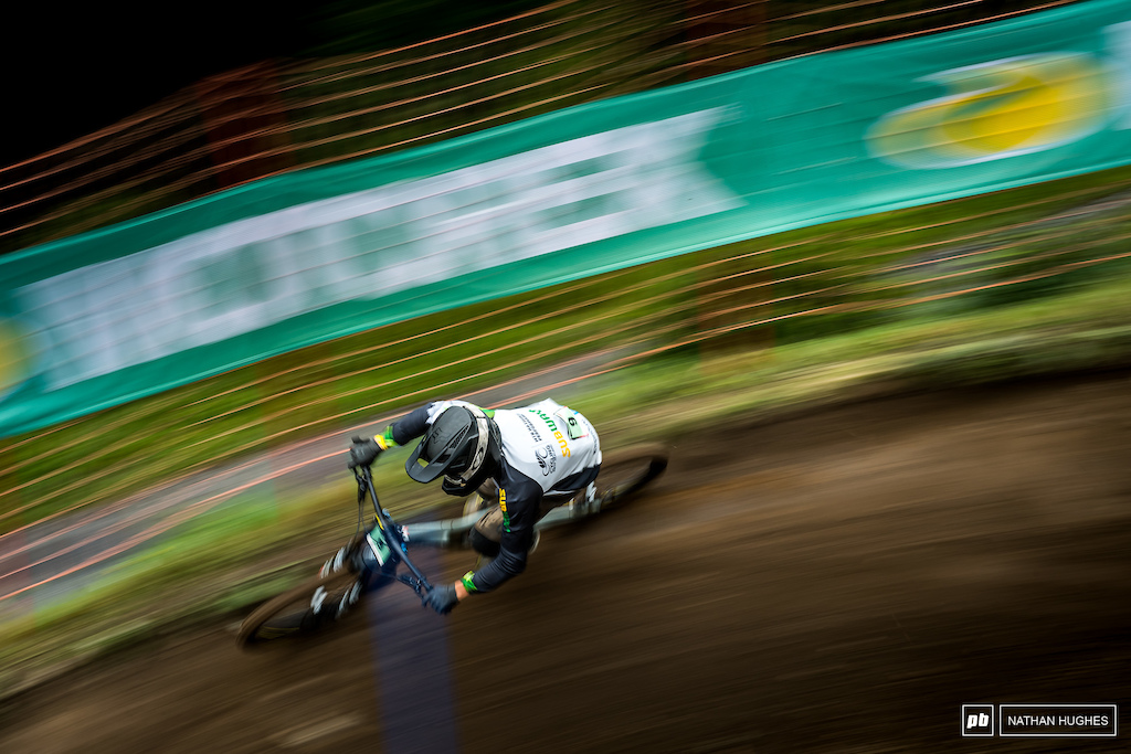 Tuhoto-Ariki Pene keen to show Val Di Sole was no fluke, hit the podium again, just 1.2 short of the win for 3rd place.
