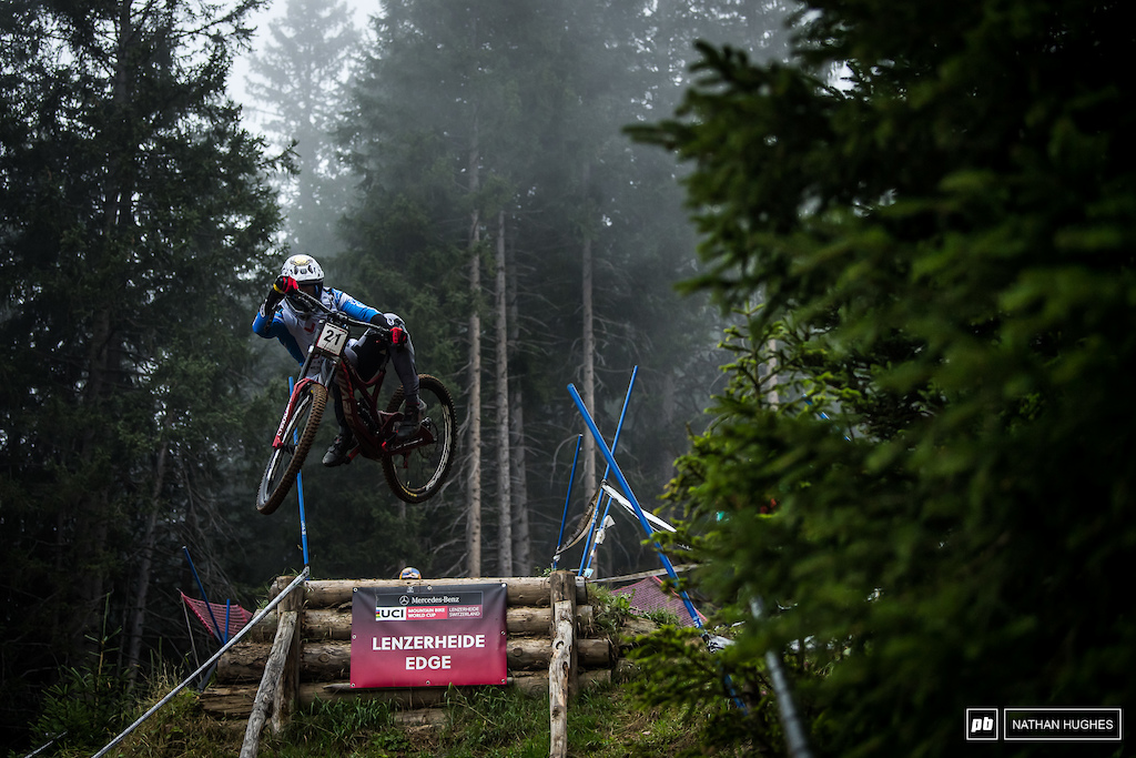 Not the weekend for Dakota Norton, who will surely be extremely frustrated to waste an otherwise solid visit to Switzerland sliding out on the final turn.