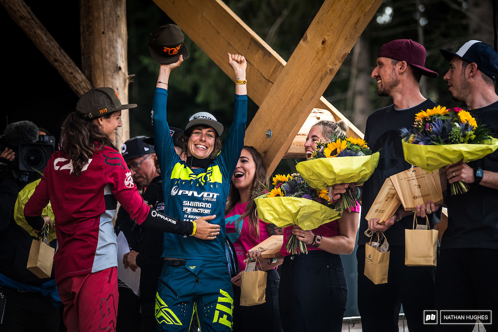 Siegenthaler stoked to make the top steps in Switzerland just a few tenths ahead of partner, Balanche.