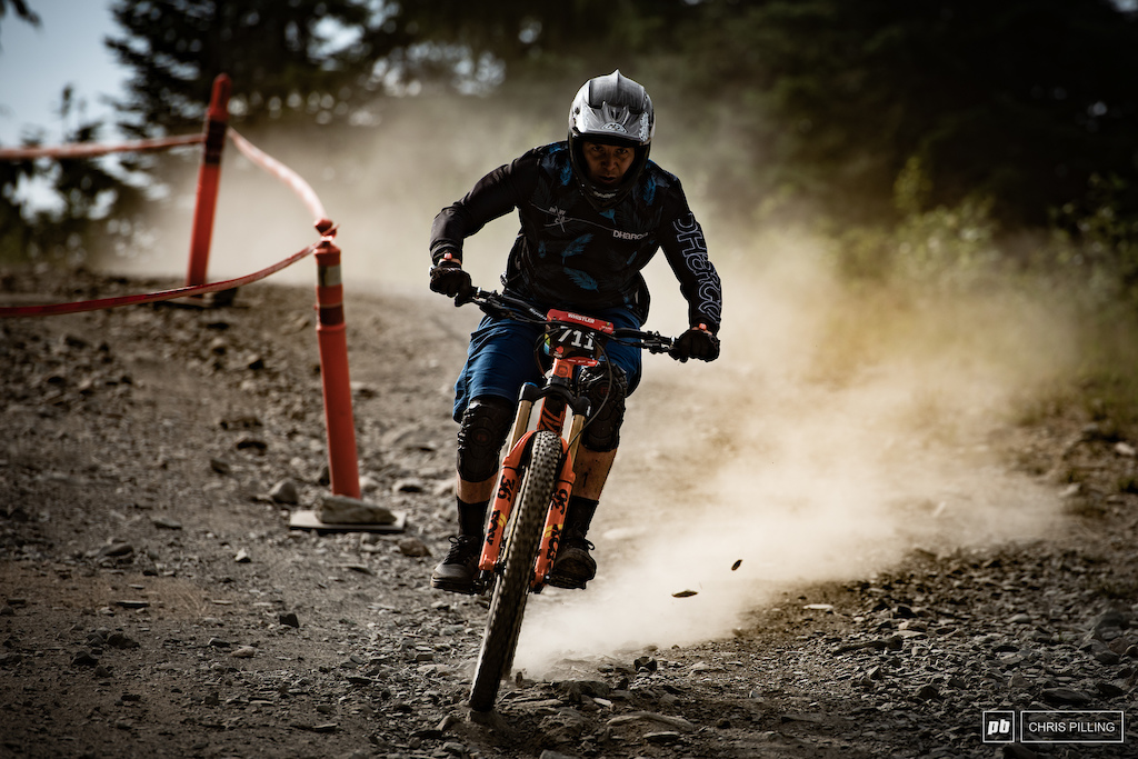 A top to bottom of Whistler mountain is not without it's sprints