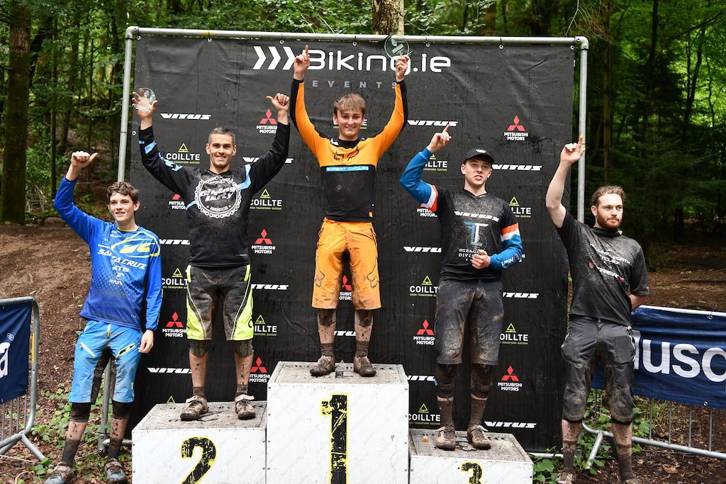 Elite men podium