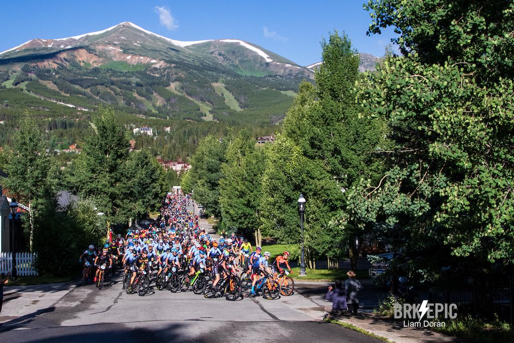 The Breck Epic Stage 2 started in scenic downtown Breckenridge. Photo credit: Liam Doran